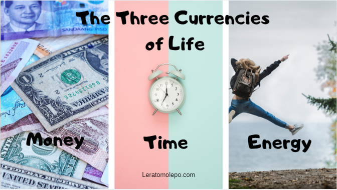 The Three Currencies of life
